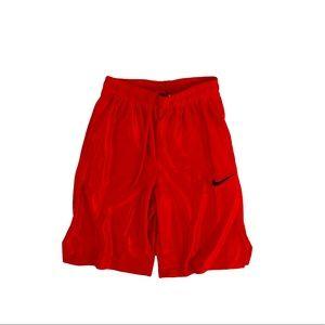 NIKE DRI-FIT Red boys men basketball shorts medium